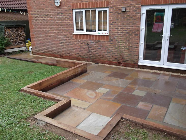 Projects winchester gardens for Garden designs using sleepers
